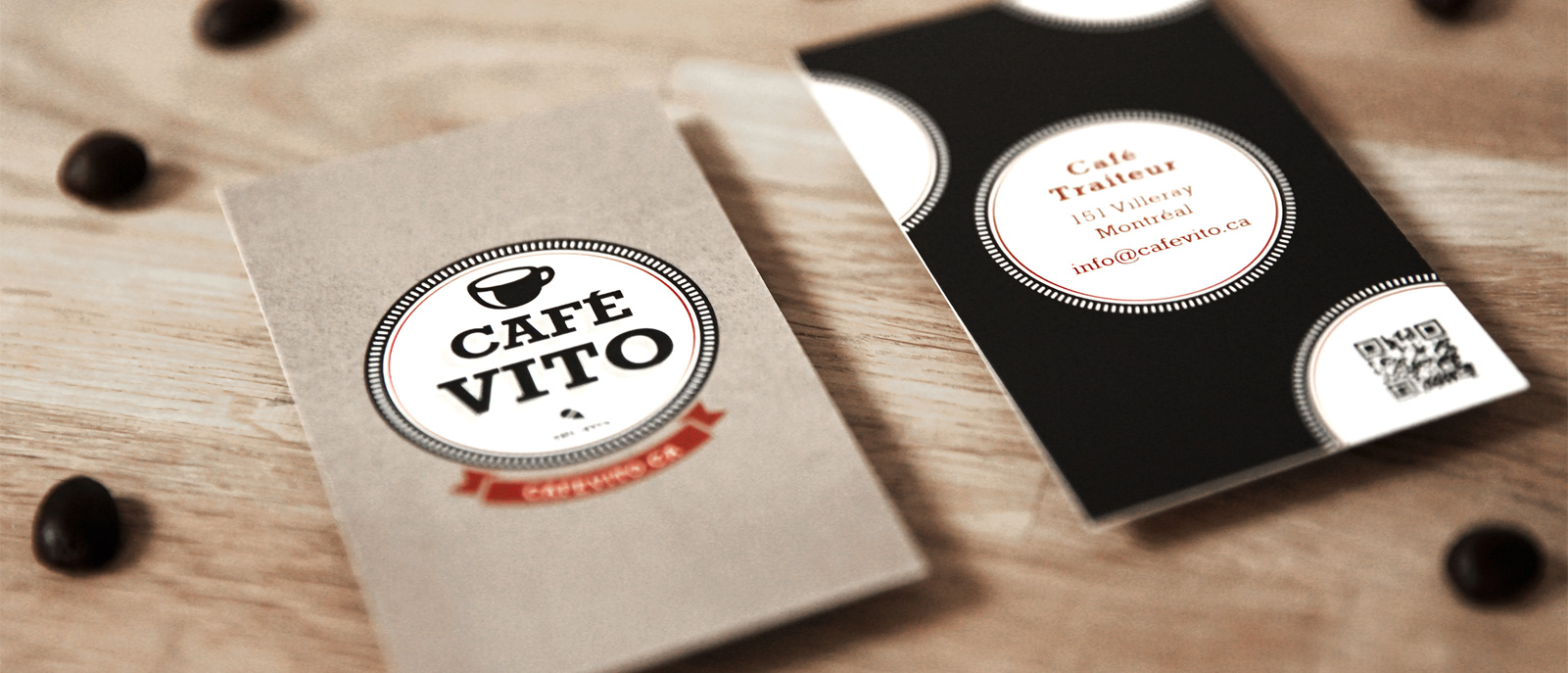Cafe Vito business cards